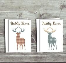 Pack of Welsh Christmas Cards 6 Multipack of Cards Stags Reindeer