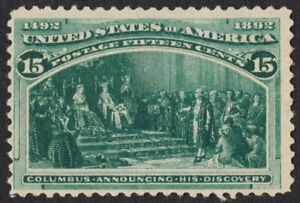 US Sc# 238 *MINT NG LH* { 15c ANNOUNCING DISCOVERY } COLUMBIAN OF 1893 SERIES