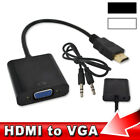 HD 1080P HDMI Male to VGA Female Video Cable Cord Converter Adapter For PC DVD