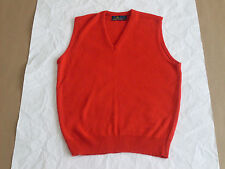 Vintage Robert Bruce 100% Orlon Acrylic ILGWU Union Made Red Vest(Made in USA)XL