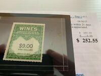 Outstanding  US Wine Revenue Mint #RE179A