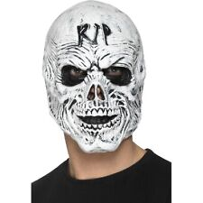 Grim Reaper Skeleton Mask RIP Soft Foam Latex Halloween Fancy Dress