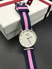 Original Daniel Wellington Women's Watch 0962DW Quartz Watch Nylon Band