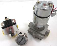 High Flow Performance Electric Fuel Pump 140 GPH W/ Billet Regulator & LF Gauge