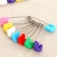 10Pcs Baby Diaper Pins Holder Safety Shower Locking Cloth Nappy Hold Clip New