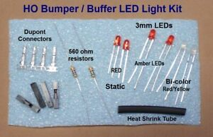 HO Scale Bumper LED lighting Kit for Atlas code 100, Life Like and other Bumpers