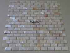 Natural brick mother of pearl shell mosaic kitchen shower bathroom pool tile