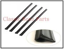 Mercedes W116 Door Window Belt / Door Glass Scraper Brush Set of 4 Pieces