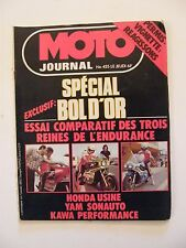 Moto Journal Septembre 1979 N°425 Bol d'Or Honda Usine Yam Sonauto Kawasaki