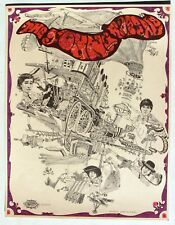 Original YOUNG RASCALS Poster from 1968 by Dave Schiller, Sparta Graphics