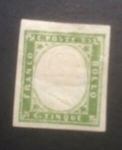 SARDINIA 1855 EMBOSSED IMPERD SG28 MH