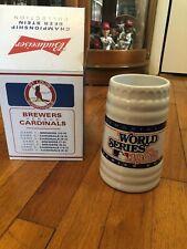 1982 St Louis Cardinals World Series Champion Beer Stein sga Busch Stadium