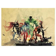 Cartel Kraft Edición De Acuarela Héroe De Marvel Vintage Decoración Del Hogar