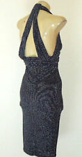 BEC & BRIDGE BlackSilverLurexLowCutStrappyStretch Size6 NWoT