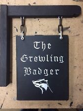 Traditional Hanging PersonalIsed Pub Bar Sign Man Cave Shed Cabin Hand painted