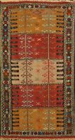 Tribal Traditional Sumak Kilim Hand-woven Geometric Area Rug Oriental Carpet 4x6