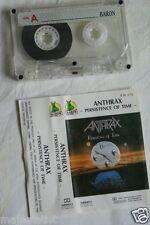 ANTHRAX – Persistence of Time MC tape RARE POLISH PRESS 1990 BARON REC.