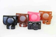 Leather Camera case bag Cover For Canon powershot G7XII G7X II G7X Mark2
