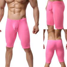 Herren Leggings 3/4 Hose Sport Shorts enganliegend Pink Rosa Neu L/XL