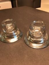 Used Ikea Candle Holders Set of 2 two-way Glass Designed by K Hagberg M Hagberg