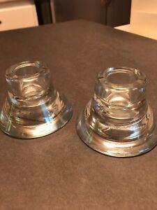 Used Ikea Candle Holders Set of 2 two-way Glass Designed by K Hagberg M Hagberg