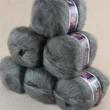 Soft 6BallsX50g Fluffy Mohair Angora Cashmere DIY Hand Knitting Worsted Yarn 19