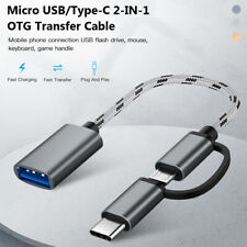 Tablet 2 in 1 Adapter OTG Cable Micro USB/Type-C to USB 3.0 Male to Female