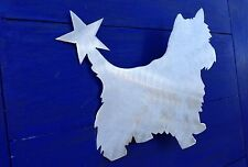 Yorkshire Terrier with Star, Yorkie, Tree Topper, Holiday Decoration, Aluminum