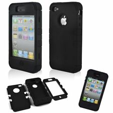 Rugged Hard Impact Hybrid Shockproof Silicone Case Cover For Apple iPhone 4 4S