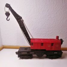 Lionel Trains Vintage Postwar Red Cab Crane Car