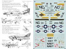 MICROSCALE DECALS 1/72 F-4B Phantom A-7E Corsair VF 92 Silver Kings VFA-146(USN)