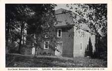 Leeland Maryland Old Saint Barnabas Church Antique Postcard J61505
