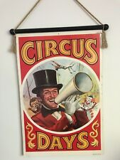 Vintage 'Circus Days' Ringmaster Double Sided Circus Poster