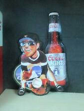 Unique Coor'S Light- Baseball Player Embossed Tin/Metal Beer Sign