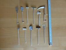 Miniatur 11 Teile  Holz und teils Metall Garten Werkstatt Werkzeug Set
