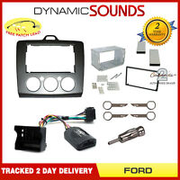 Double Din Stereo Fascia Facia Steering Control Fitting Kit for FORD Focus 2006>