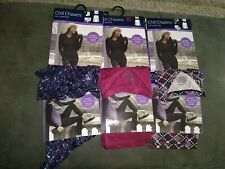 Chill Chasers Cuddl Duds TOP or Legging Stretch Microfiber CRANBERRY, PK MULTI