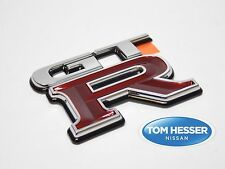 "JDM Nissan Skyline R34 GT-R ""GTR"" Rear Trunk Boot Emblem Badge Genuine OEM New"