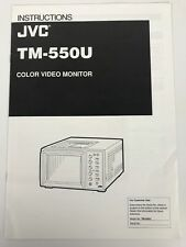 JVC  TM-550U Color Video Monitor,  Operating Instructions Manual