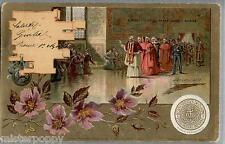 ROMA Vaticano IL PAPA negli appartamenti Borgia Pope Saint-Père PC Viaggiat 1903