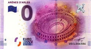 13 ARLES Arènes, 2016, Billet Euro Souvenir