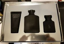 POLO DOUBLE BLACK by Ralph Lauren 3 Piece Gift Set 4.2 oz NEW