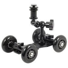 """UK MAGAZZINO! cameraplus ® FLEX Skater Dolly (NERO) + 7"""" MAGIC ARM Binario di Scorrimento"""