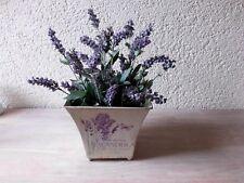 Deko Pflanzen Lavendelstrauß 18 cm 12 Blüten Floristik künstliche Blumen