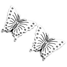 20pcs Vintage Silver Alloy Butterfly Loose Crafts Spacer Beads Wholesale Lots D