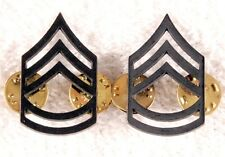 Enlisted Rank Pin:   Army Sergeant First Class, subdued (pair)