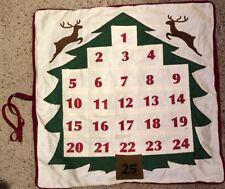 Pottery Barn Christmas Advent Calendar Pillow Cover 25 Pockets Reindeer No Star