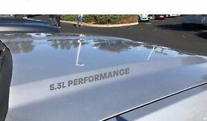 5.3L Performance Hood Decal Sticker Emblem FITS GM Vortec Chevy Silverado Silver