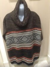 Ladies Brown Multicoloured Over jumper Jumper. Size S/M Brand New Suzannegrae