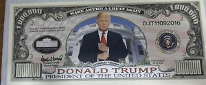 * Donald Trump Novelty Million Dollars / Lot of 2 - One Million Dollar Bills !!